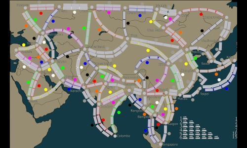 Ticket To Ride Asia Map.Ticket To Ride Asia Warzone Better Than Hasbro S Risk Game